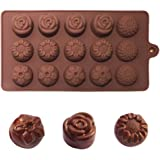 Chocolate Moulds Silicone Christmas Xmas Chocolate Cake Cookie Muffin Cutter Jelly Baking Silicone Bakeware Mold