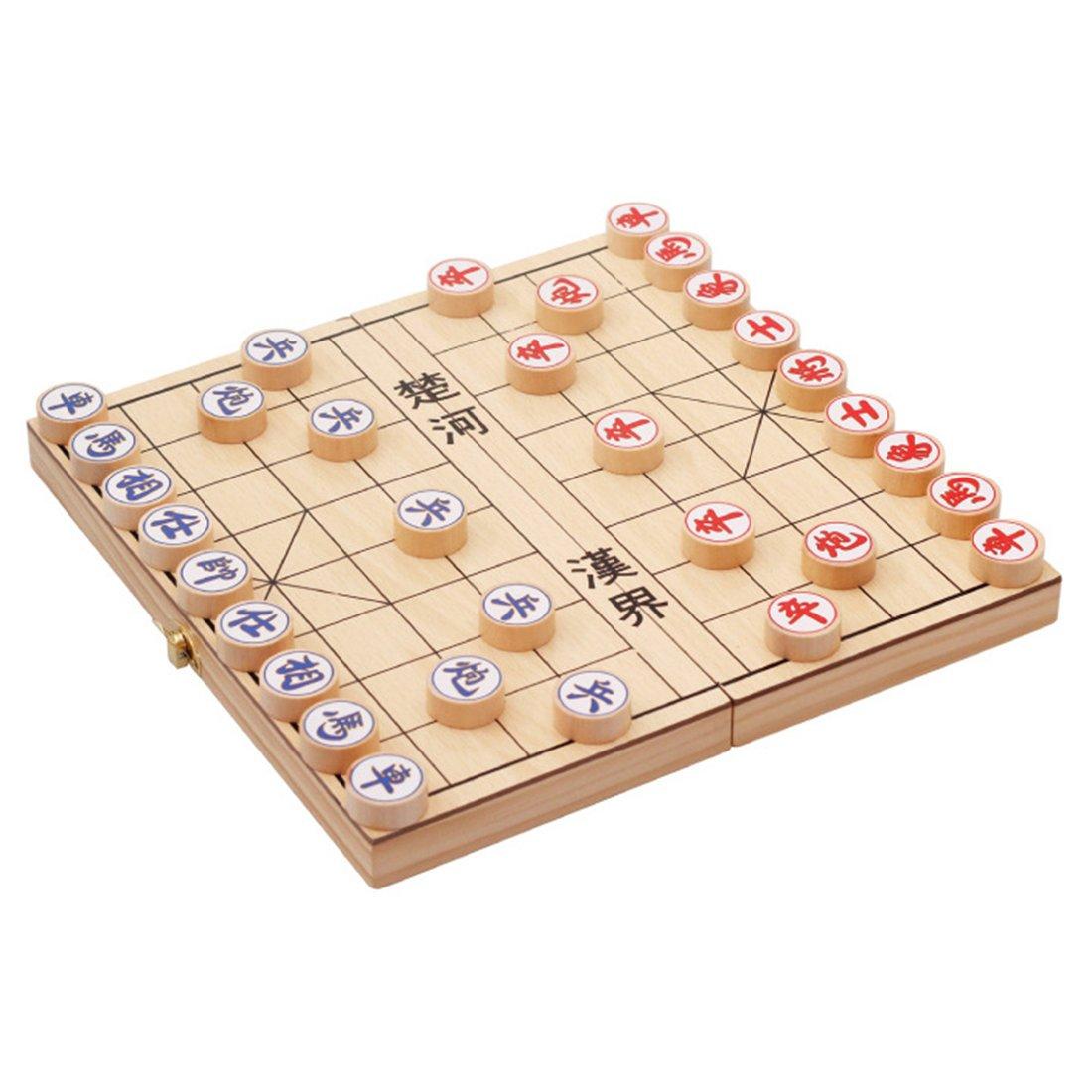 Traditional Wooden Xiang Qi Chinese Chess Checker Game W2015 juanxian