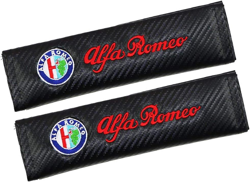 AniFM 2Pcs Car Styling Copertura della Cintura di Sicurezza Decasl Car Styling Custodia Auto per Alfa Romeo 147 159 Giulietta