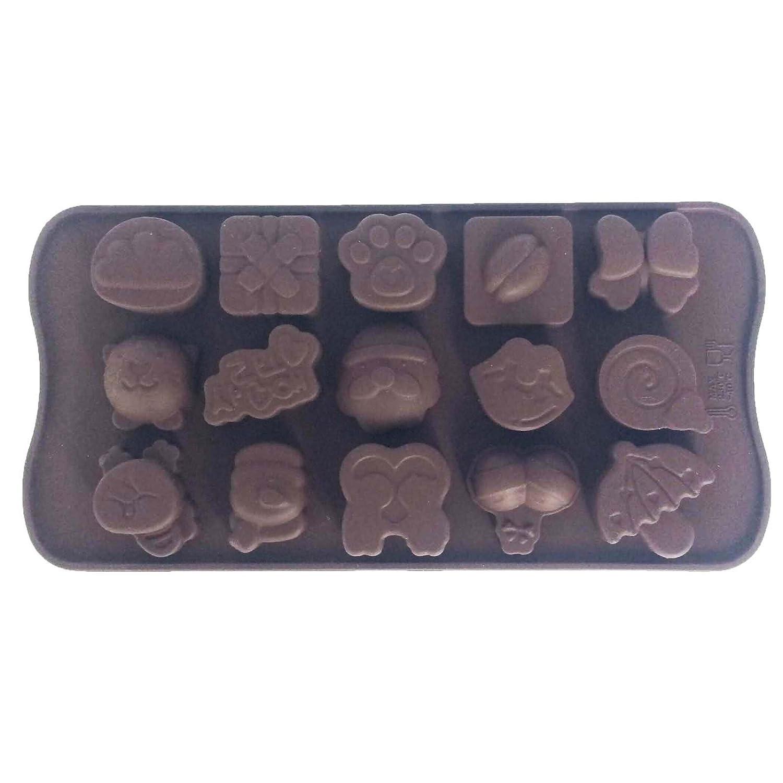 15 Cavidades Chocolate Silicona Molde para Gominolas Bombones ...