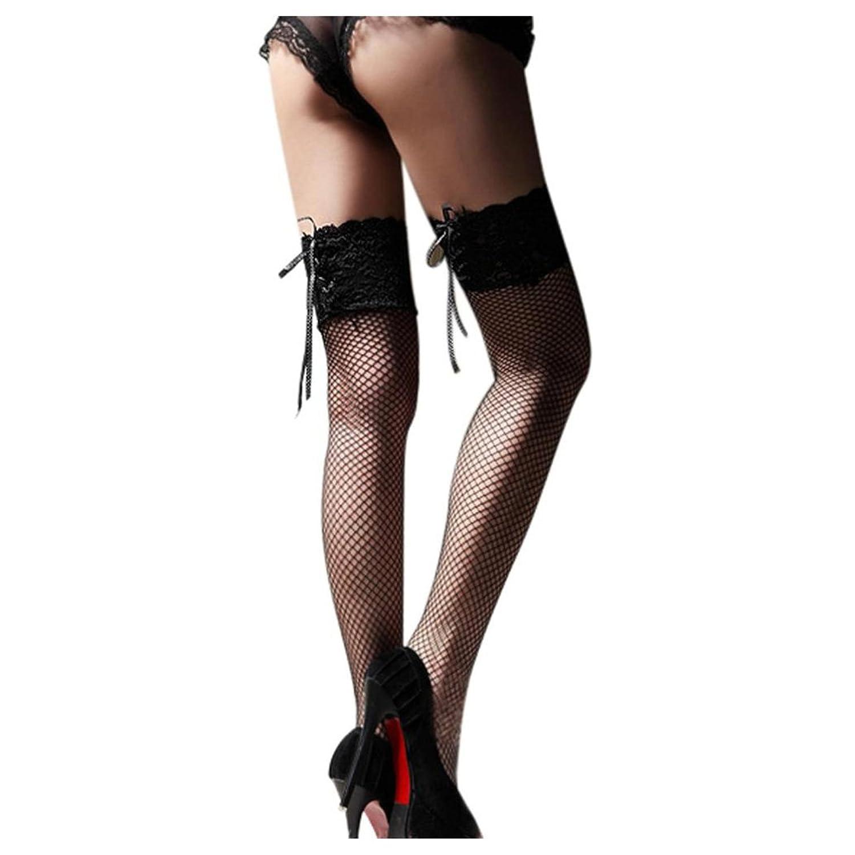 Women Fishnet Socks Inkach Girls Sexy Sheer Lace Top Thigh High Stockings Thigh Highs Hosiery Nets Sock