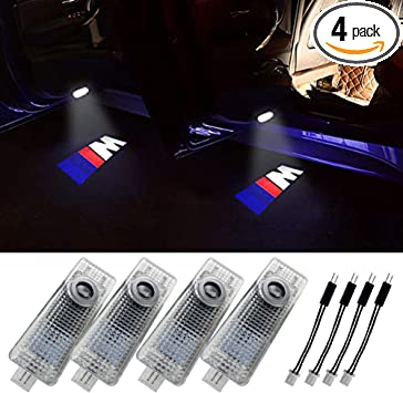 4 Pack Klinee Easy Installation Car Door LED Logo Projector Welcome Lights For Lexus LS//ES//IS//GS//GX//LX//UX//RX//RC Series