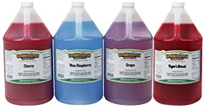 Hawaiian Shaved Ice Syrup 4 Pack, Gallons