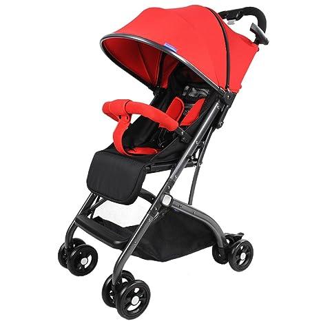 Juguetes Portátil Cochecito de bebé Puede Sentarse Plegables y reclinables Plegables Carpa Variable Instalación Gratuita Neumático