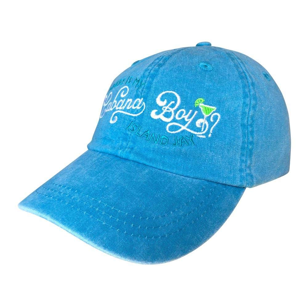 Island Jay Where is My Cabana Boy Embroidered Hat