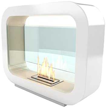 Imagin Bio ethanol Fireplace - Oblosk White: Amazon.co.uk: DIY & Tools