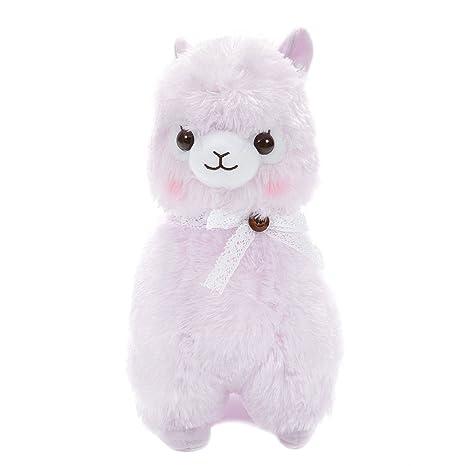 Amazon Com Alpaca Plush Cute Stuffed Animal Japan Lace Ribbon