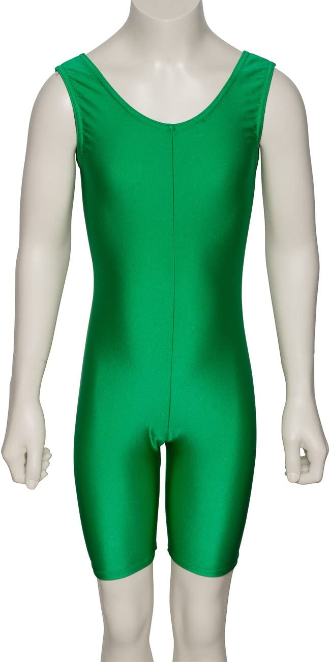 Katz Dancewear Girls Ladies Shiny Lycra Sleeveless Footless Catsuit Unitard KDC018