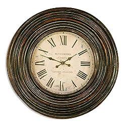 Classic Extra Large Dark Wood Wall Clock