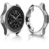KTcos Coque pour Samsung Gear S3 Frontier SM-R760, Soft TPU Plaqué [Anti-Rayures] Autocollant De Protection pour Samsung Gear S3 Frontier SM-R760 Smartwatch (Argent)