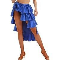 ranrann Falda de Baile Latino para Mujer Falda