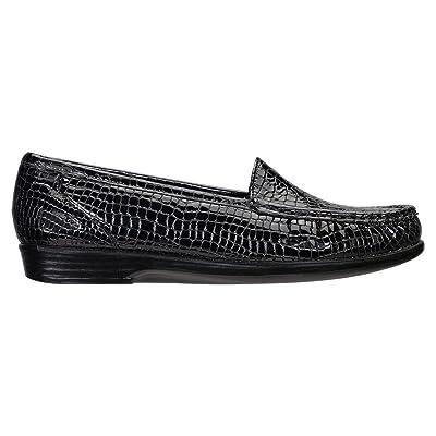 Women's SAS, Simple Slip on Loafer BLACK CROCO 8.5 S