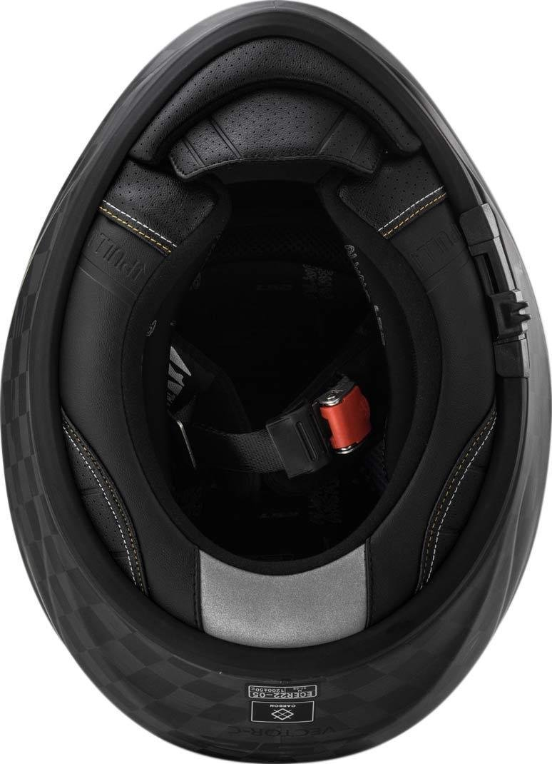 Noir LS2 Casque moto FF397 VECTOR CT2 SINGLE MONO MATT CARBON M
