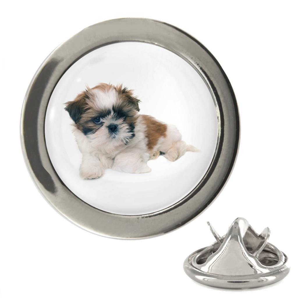 Shih Tzu Puppy Image Metal 20mm Lapel Pin CB_Lapel_ShihTzuPuppy