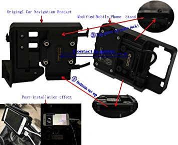 mobile phone Navigation bracket USB phone charging for BMW S1000R S1000XR 15-ON F750GS F850GS