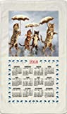 2017 Kitchen Linen Calendar Towel with Dowel for Easy Hanging (Raining Cats)