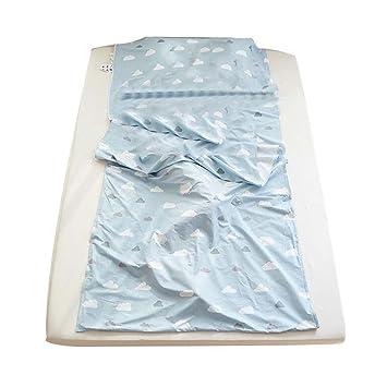 Blancho Bedding Azul Nube Algodón Saco de Dormir Liner Hoja de Camping para Viajes/Hotel/Tren: Amazon.es: Deportes y aire libre
