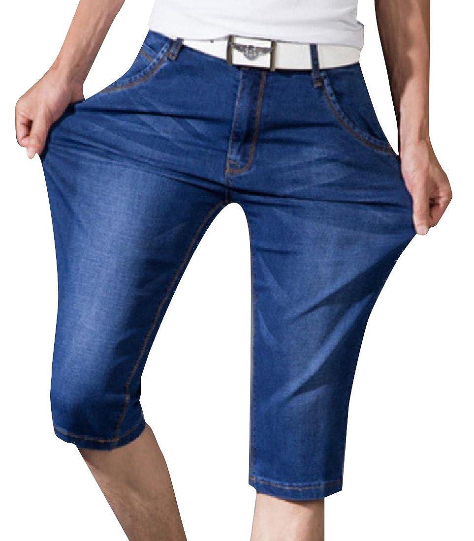 Whitive Mens Thin Rugged Wear Travel Safari Straight Jean Pants