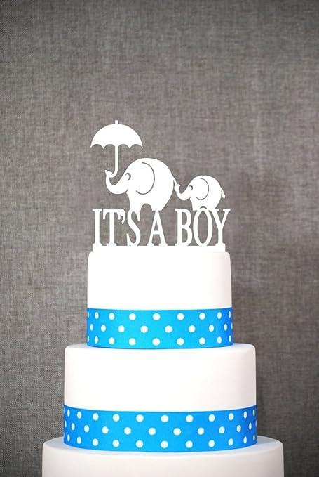 Amazon Elephant With Umbrella Cake Topper Its A Boy Cake Topper