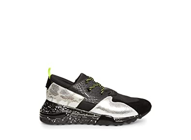 c55b512f239 Steve Madden Men s Ridge Black Silver Athletic ...