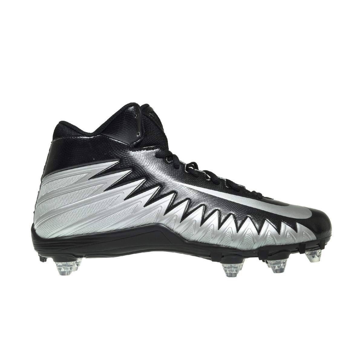 premium selection 5037d 6de27 Amazon.com  Nike Men s Alpha Menace Varsity Mid D Football Cleat  Black Metallic Silver White Size 9  Sports   Outdoors