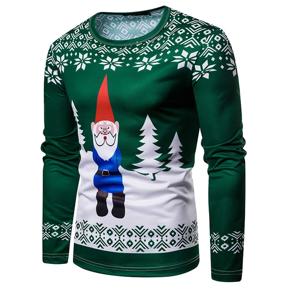 Amazon.com: Clearance Sale for Men Tops.AIMTOPPY Mens Christmas Costume Santa Print Holiday Humor Long Sleeve T-Shirt Xmas Top: Computers & Accessories
