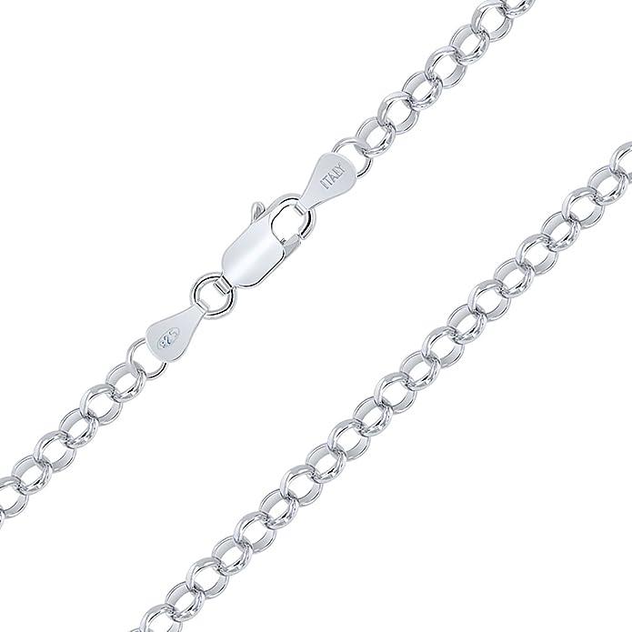 Longueur 40 45 50 55 60 70 cm Collier Maille Jaseron Cha/îne Argent 925//1000 Amberta/® Bijoux Largeur 1 mm