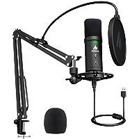 Micrófono USB de Condensador Kit 192 KHZ/24 bits Plug & Play Computadora cardioide Mic Podcast con Chipset de Sonido…