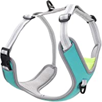 No Pull Dog Harness, Easy Dog Vest Harness with Damping Belt Adjustable Soft Padded, Dog Walking Harness with 2 Metal…