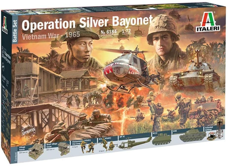 1/72 Vietnam War Operation Silver Bayonet 1965 Battle Set Plastic Model
