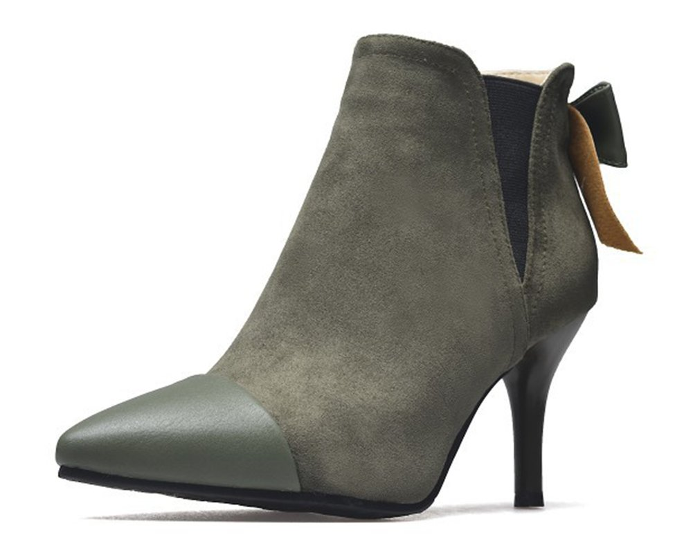 Aisun Femme Chic Pointu Noeud Cheville Vert 17505 Bout Pointu Bottines Vert 9f16444 - latesttechnology.space