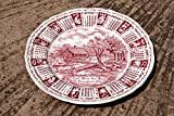 1975 Calendar Collectors Plate || God Bless Our House Throughout 1975 || Alfred Meakin Staffordshir || Porcelain || Signs of the Zodiac