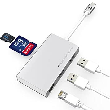 Amazon.com: USB C HUB, mundo paralelo USB 3.1 Tipo C a 2 ...