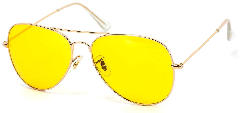 136dc39fa42e Amazon.com  Classic Aviator Style Metal Frame Sunglasses Colored Lens (Dark  Blue