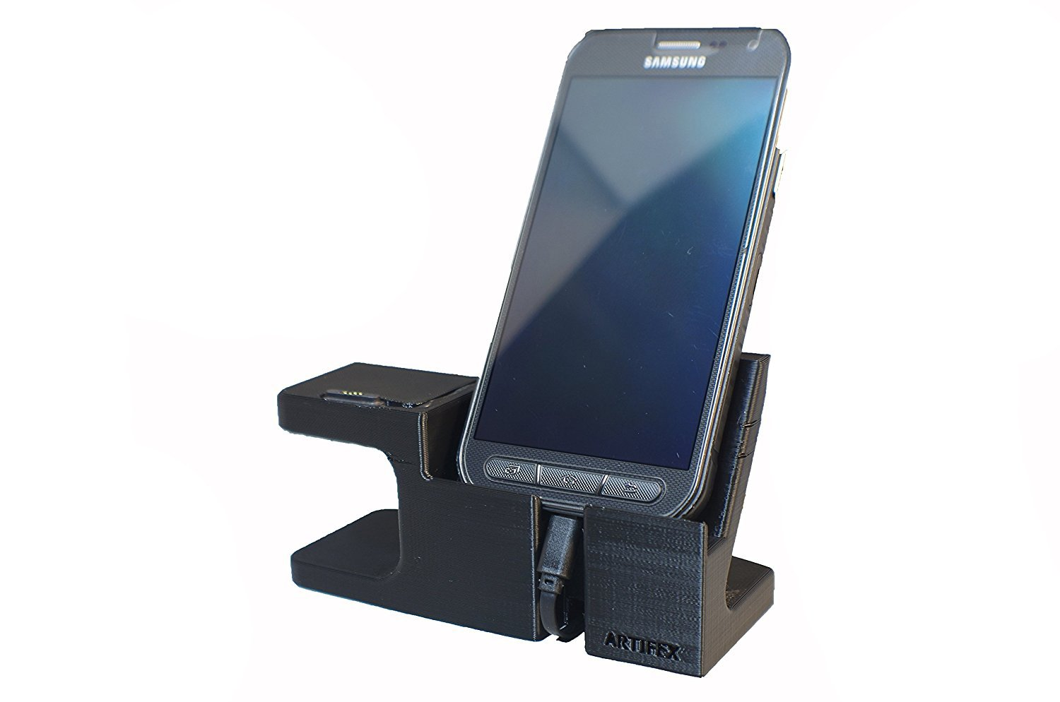 Artifex Design Stand Configured for ASUS ZenWatch 2 Stand, Charging Dock Stand for ZenWatch2, 3D Printed Technology, Smartwatch Cradle (Combo Stand)