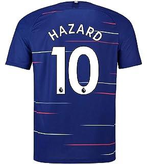 d63a33086 terfgrt Chelsea Hazard   10 Soccer Jersey 2018-2019 Home Mens Jersey Blue(S