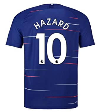 outlet store 679f7 2aeee terfgrt Chelsea Hazard # 10 Soccer Jersey 2018-2019 Home Mens Jersey  Blue(S-XXL)