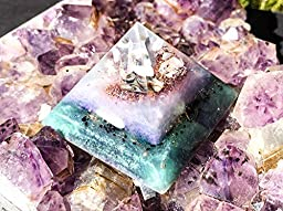 Orgone Pyramid ~ Orgonite Energy Balancing Crystal Pyramid