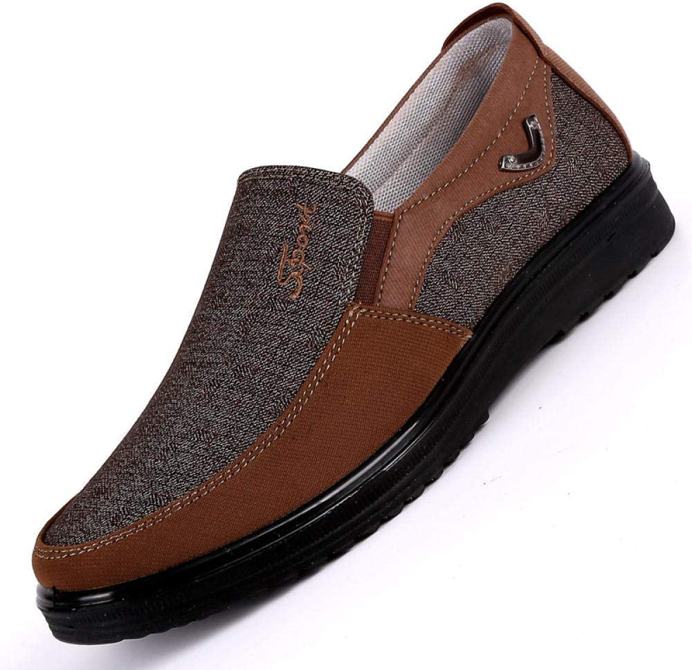 WFQGZ Chaussures Montantes en Toile pour Hommes Chaussures Décontractées Blanches pour Hommes Chaussures Plates Respirantes Grande Taille 38-48 Dark gray