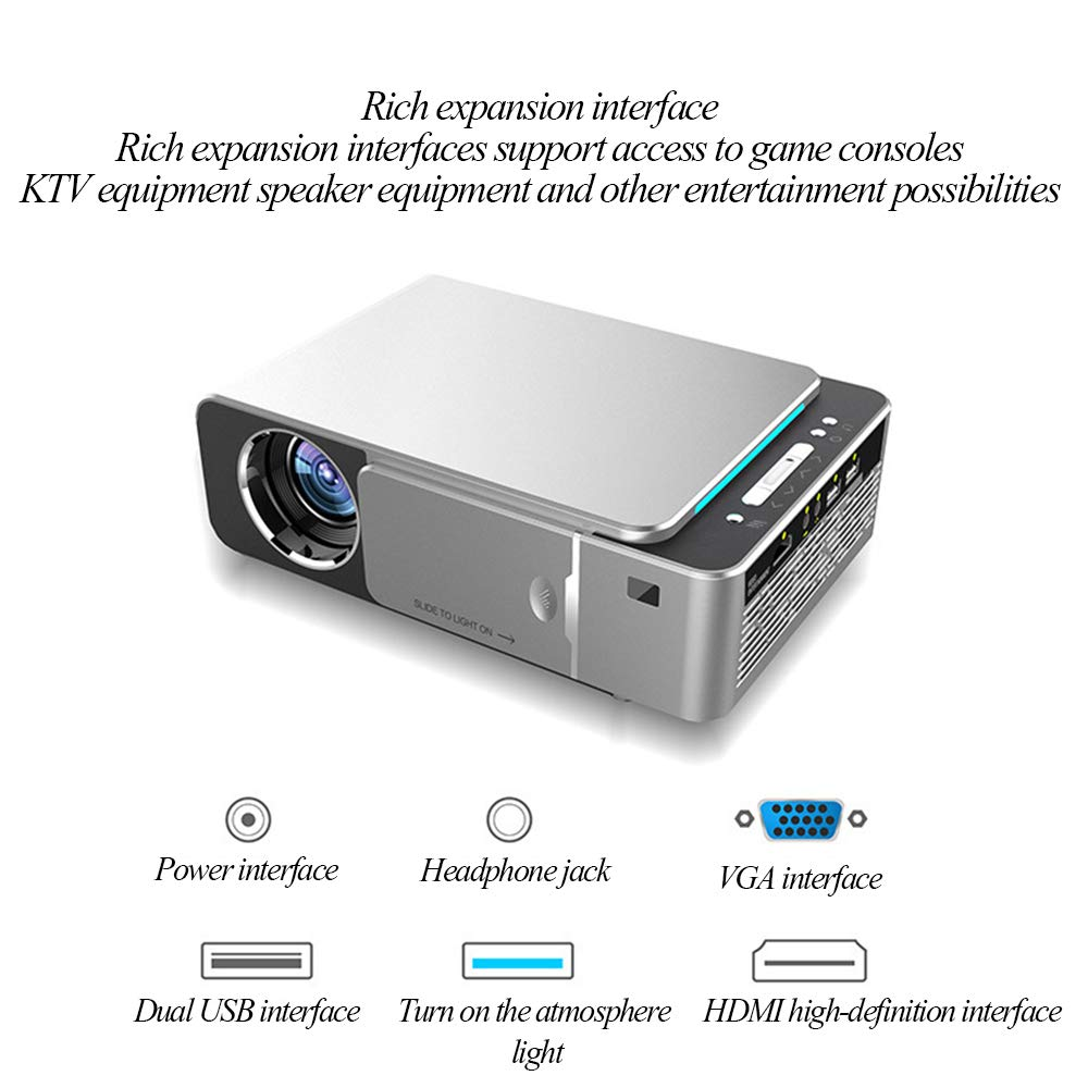 POWER BANKS Proyector Full HD Nativo 1080P (1920x1080) Proyector ...