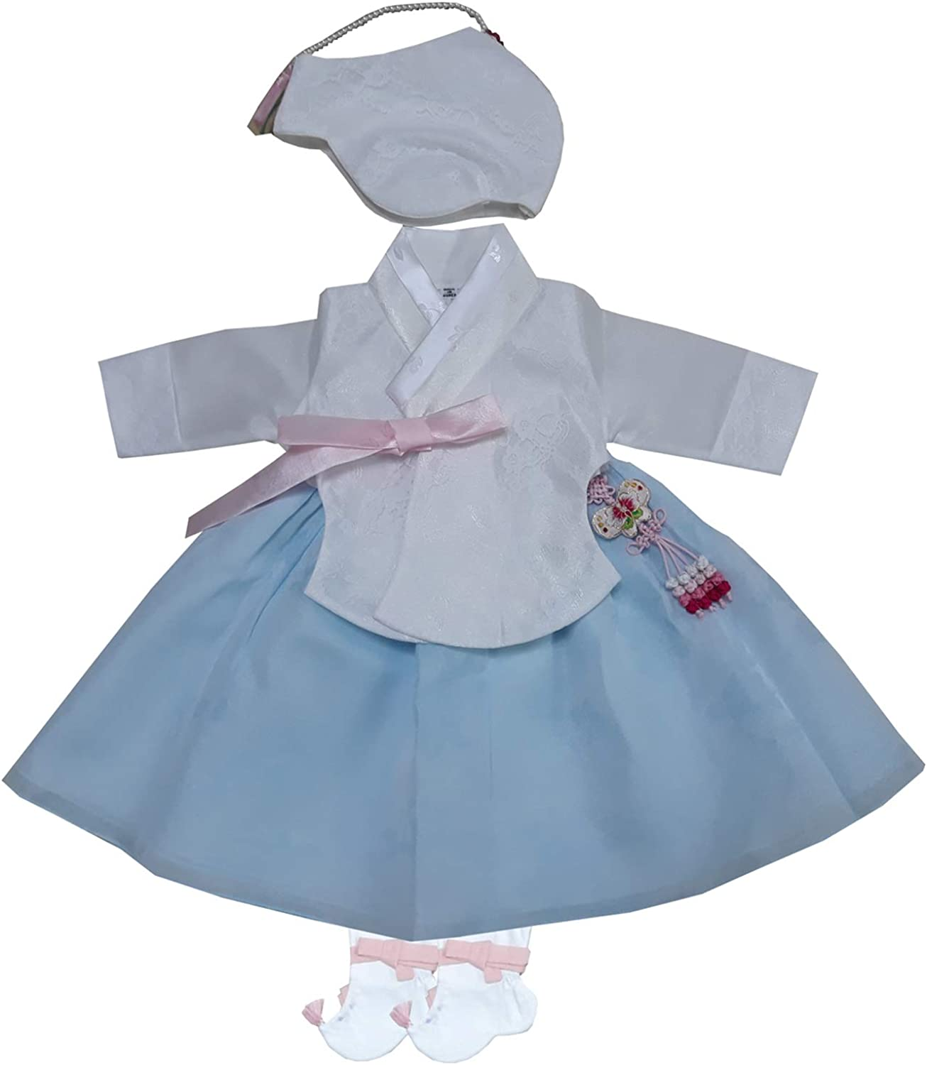 100 Day Birth Korea Baby Girl Hanbok Traditional Dress Outfits Celebration Party White Set 61gE0WNsncLUL1500_