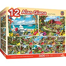 MasterPieces Alan Giana Collection - Country & Garden Scenes 12 Pack Jigsaw Puzzles