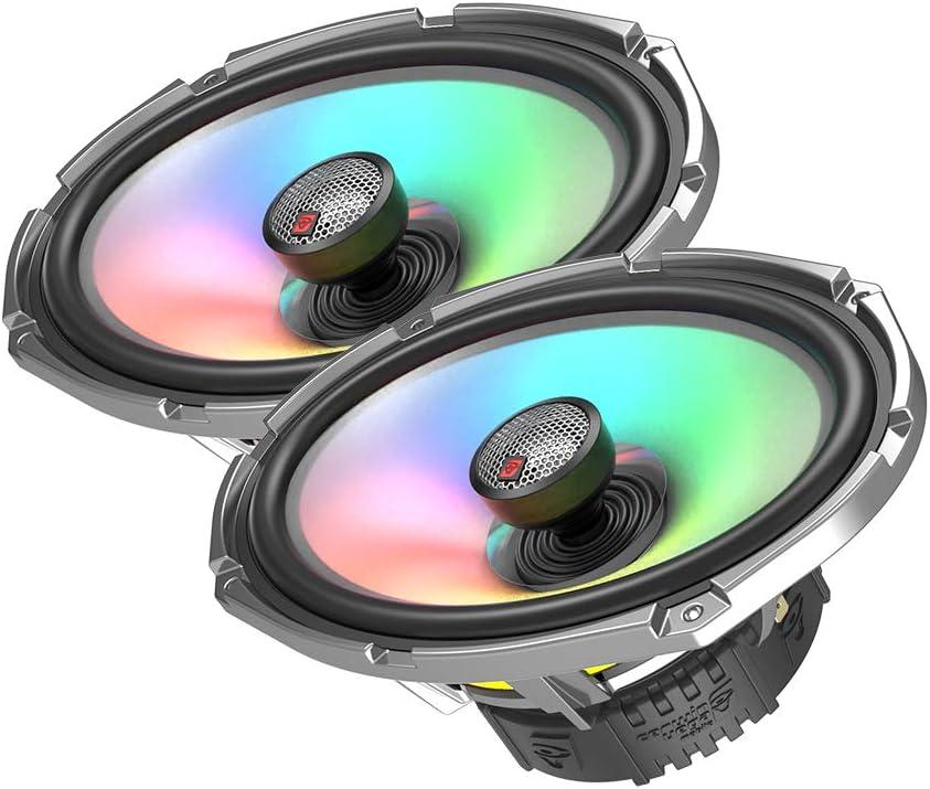 Pair Cerwin Vega SM69F4 6/″ X 9/″ 4Ω 450W Max 100W RMS 2-Way Coaxial Speaker w//Flush Mount 1/″ Titanium Dome Tweeter