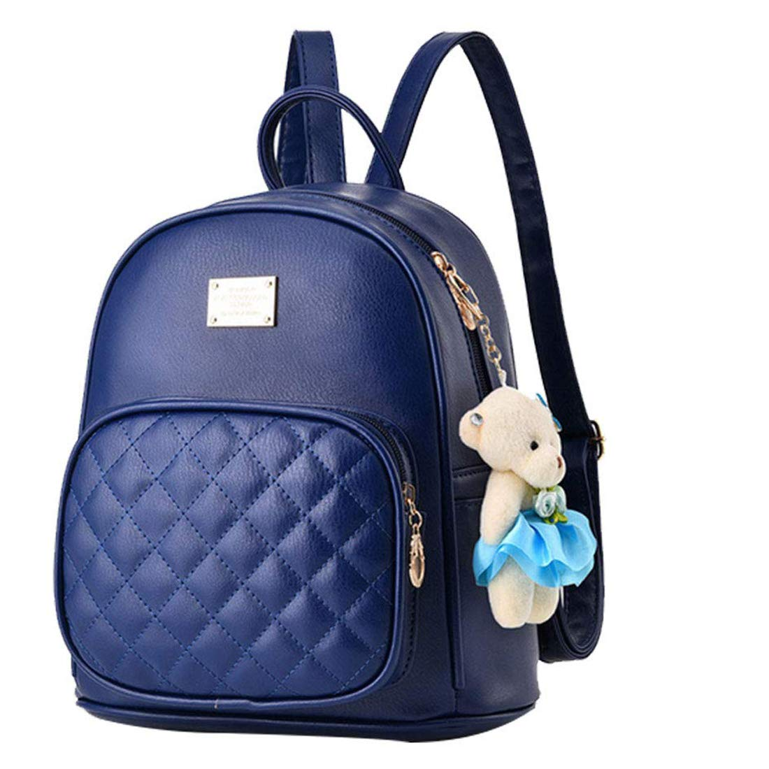 ddf42c7a48 ... Alice Cute Black Mini PU Leather Backpack Fashion Small Daypacks Purse  for Girls and Women Amazon ...