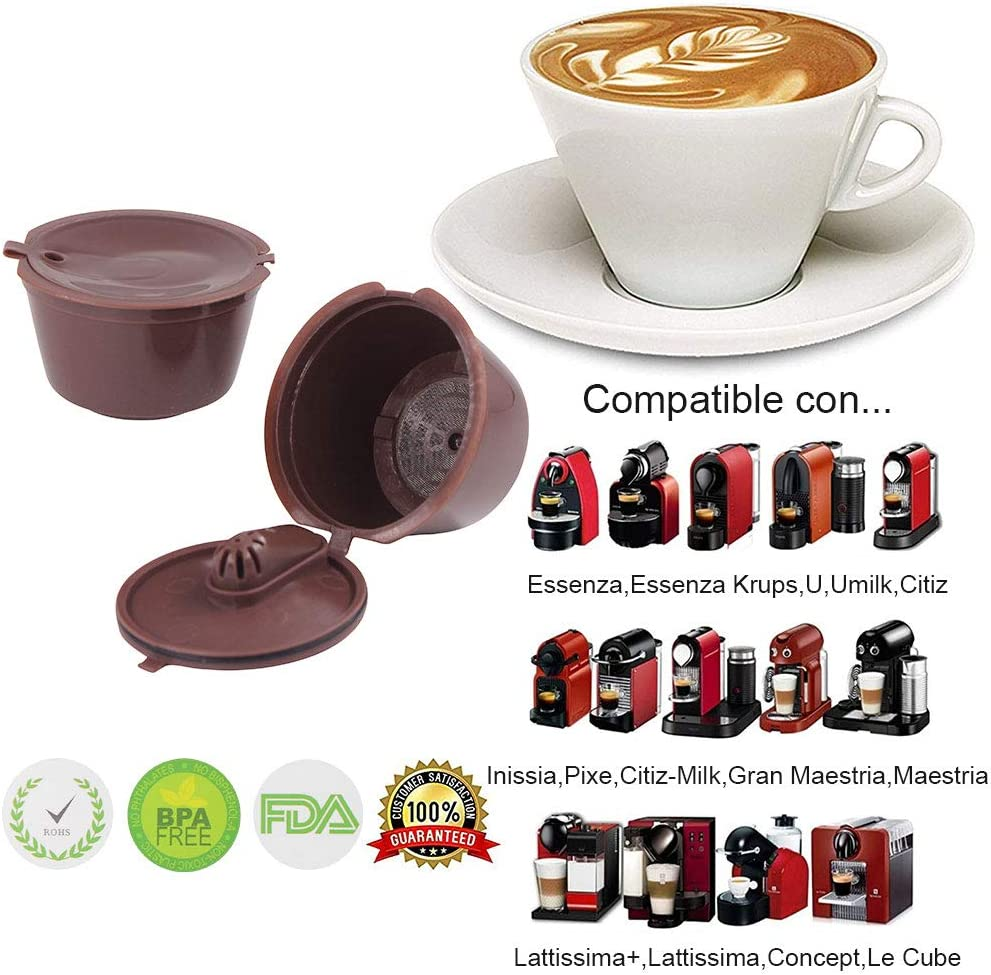 Letilio Filtros Cápsulas de Café Reutilizable para Cafetera Dolce ...