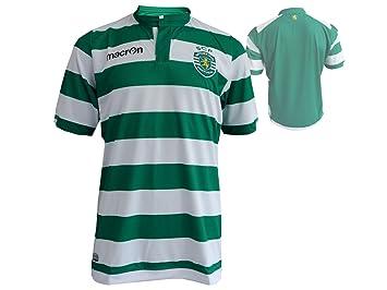 Macron Sporting de Lisboa de fútbol Jersey M14 Home Fussballtrikot Sporting Clube de Portugal SCP Camiseta Verde Blanco, Unisex, Green White, ...