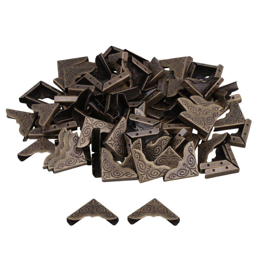 BQLZR Bronze 25x4mm Album Edge Cover Corner Protector Notebook Gards Pack of 100