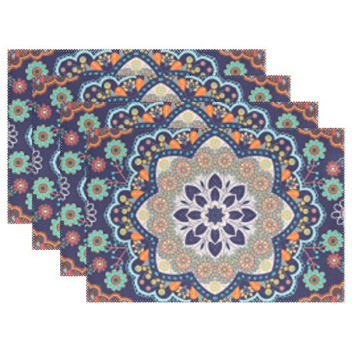 Bohemian Hippie Print Placemat Table Mat, 12