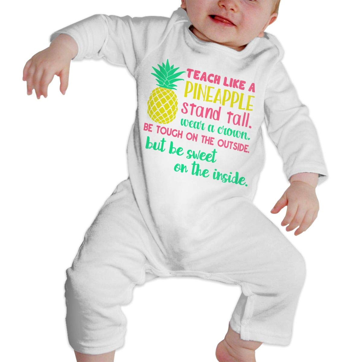 Teach Like A Pineapple Newborn Infant Baby Girls Essential Basic Bodysuits Coverall Jumpsuit