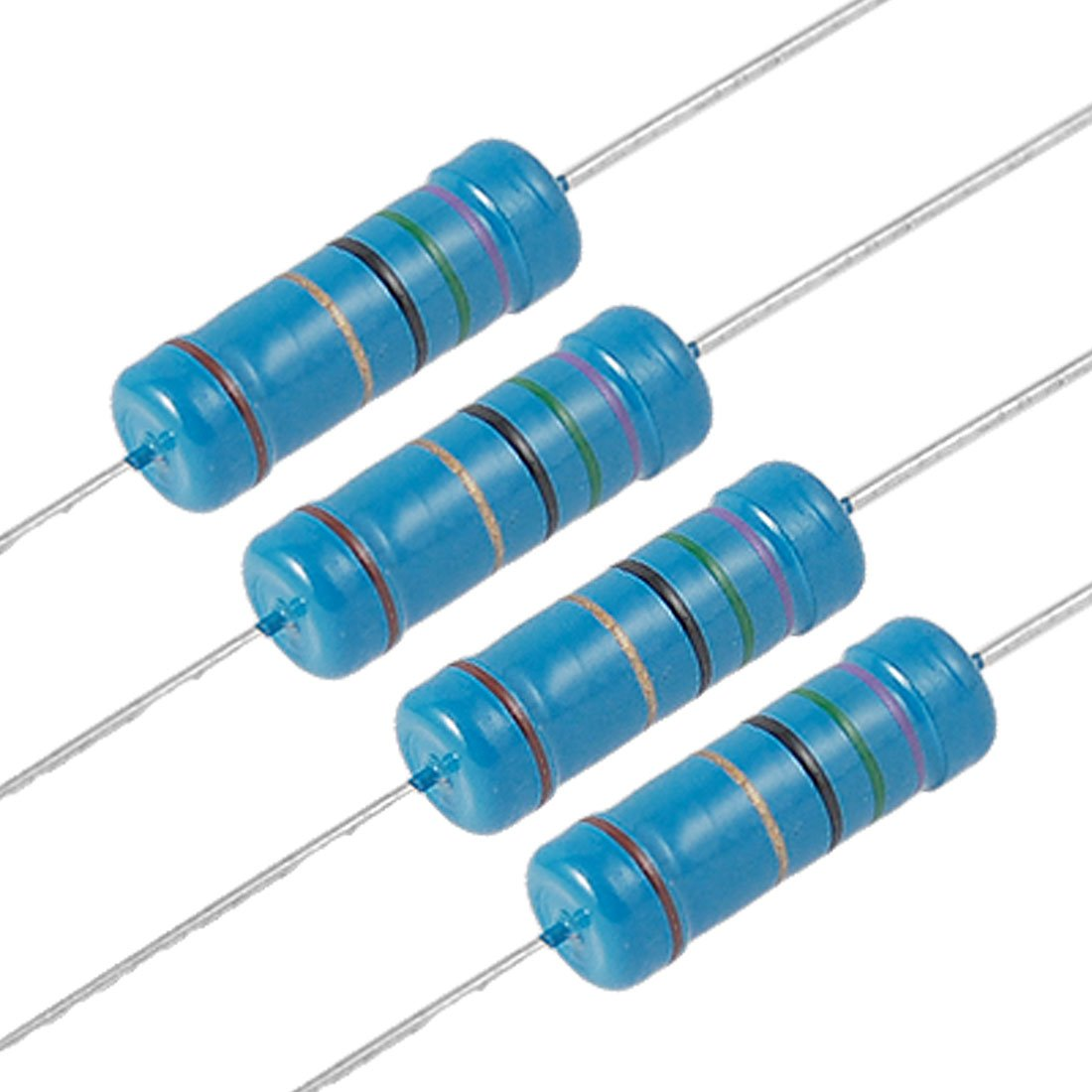 40Pcs 220K Ohm 2 W Watt résistance carbone fixe Film Résistances